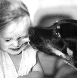 bambina-cane